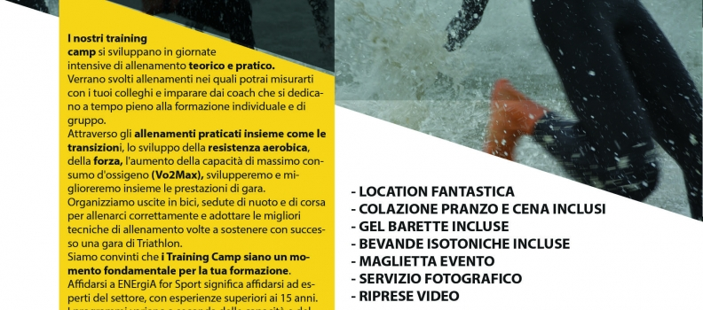 Camp Triathlon dal 6 al 9 giugno 2019